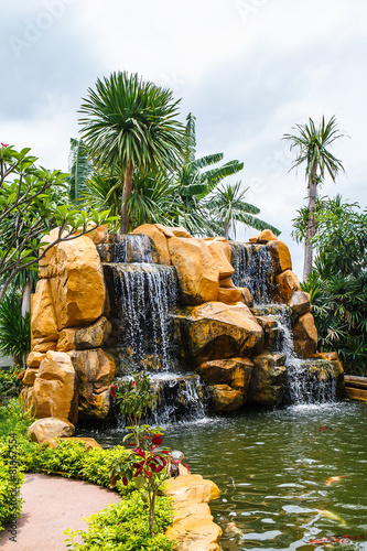 Waterfall in garden - 81667554