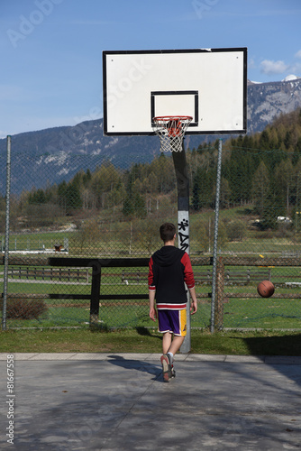 Poster giocare a basket