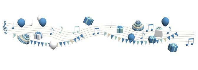 Feestelijke muziek voor een jongen