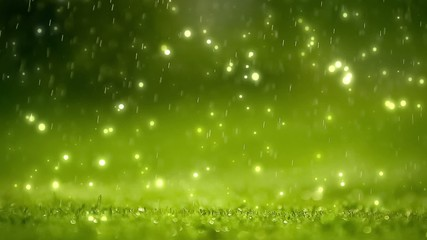 Nature background. Spring blurred abstract bokeh with rain drop