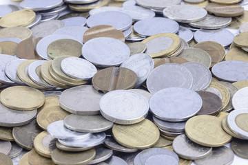 La lira, la vecchia moneta italiana: gruppo di monete