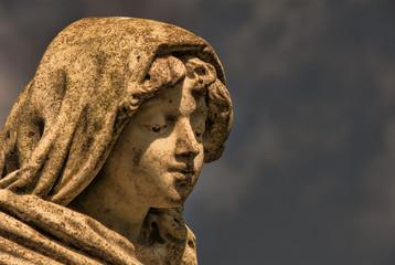 Boy Stone Statue