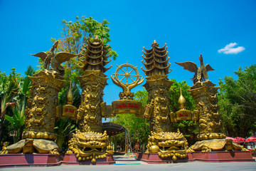 Incredibly beautiful amusement Park Suoi Tien in Vietnam, in Ho