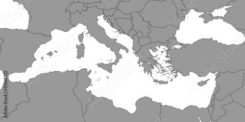 Morze śródziemne na szaro