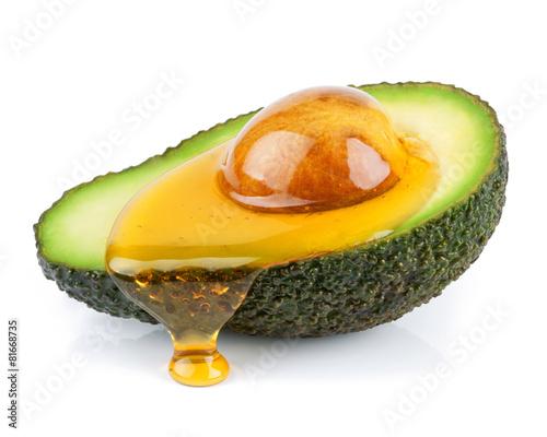 Poster Keuken Avocado mit Öl