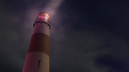 Lighthouse and mist (full hd)