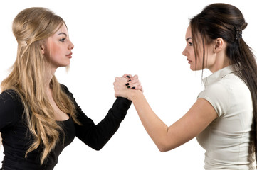 Two women are fighting