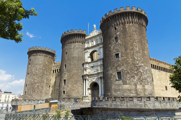 The medieval castle of Maschio Angioino or Castel Nuovo in Naple