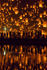 Yi Peng (Loy Krathong) festival, Thailande
