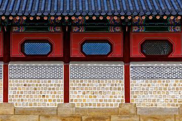 Chinese-style brick wall
