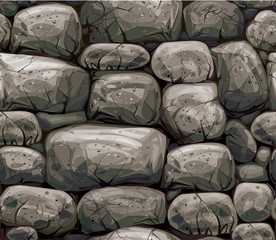 Vector seamless texture stones wall.