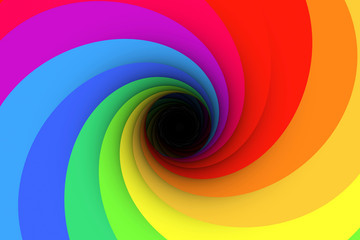 black hole multicolored