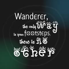 Wanderer footsteps illustration