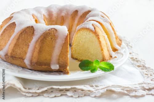 Bundt Cake  with Sugar Glaze - 81673368