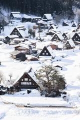 Shirakawa-go in winter season, Japan