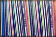 Leinwanddruck Bild - Collection of vinyl records covers (dummy titles)