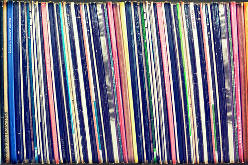 Collection of vinyl records covers (dummy titles) - 81673948