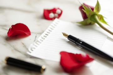 blank rose Letter