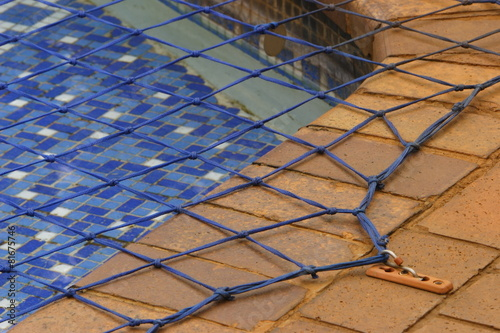 Close up view of a swimming pool net - 81675746