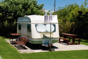 Caravan with solar energy