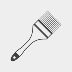 Brush painting monochrome icon