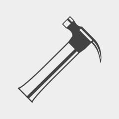 Claw hammer monochrome icon