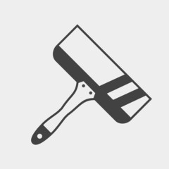 Wide spatula monochrome icon