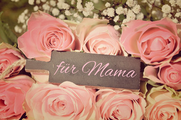 Muttertagskarte - Rosenstrauß