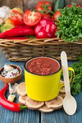 Homemade organic tomato sauce