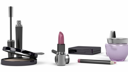 Makeup and cosmetic set