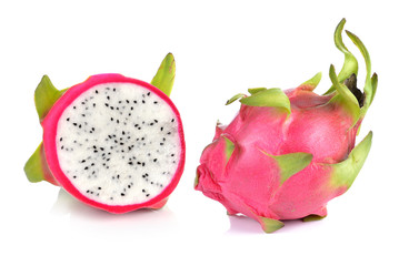 Dragon Fruit isolated against white background.