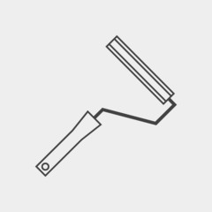 Roller for painting monochrome icon