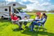 Leinwanddruck Bild - Family vacation, RV (camper) travel with kids, trip in motorhome