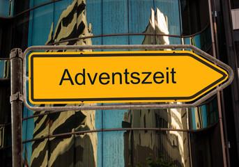 Strassenschild 42 - Adventszeit