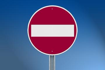 trafik levhası, girişi olmayan yol