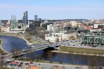 View of Vilnius, Neris River