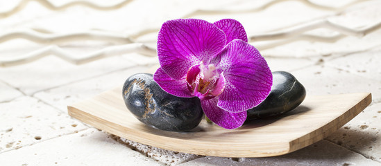 black pebbles for relaxation and massage