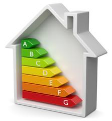 Energieeffizienz Haussymbol seitlich