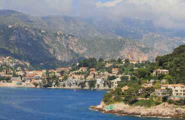 Country houses in French riviera. Vilfransh-sur-Mer, France