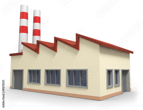 Leinwanddruck Bild Fabrikgebäude