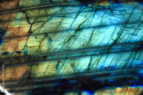 Deurstickers Edelsteen labradorite mineral background
