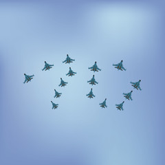 Vector illustrations of congratulation on May 9 Victory Day