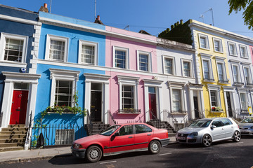 Colourful Houses in Notting Hill, London
