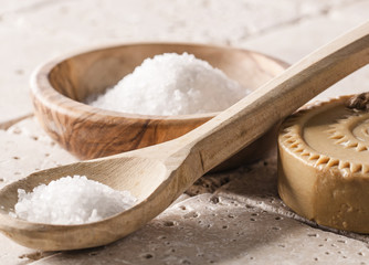 bath salt and soap for pure hydration