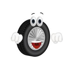 Funny tire cartoon tire service summer winter tires