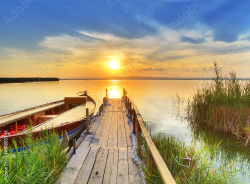 Poster, Tablou tiempo libre en el lago