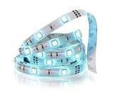 Led stripe in coil isolated on white.Diode strip.