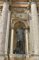 Bronze sculpture in Saint Mark Basilica, Venice, Italy
