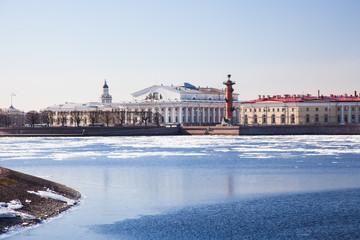 The Spit of Vasilyevsky Island in St.Petersburg