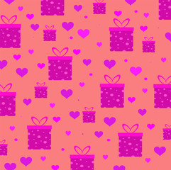 pink gift boxes Print